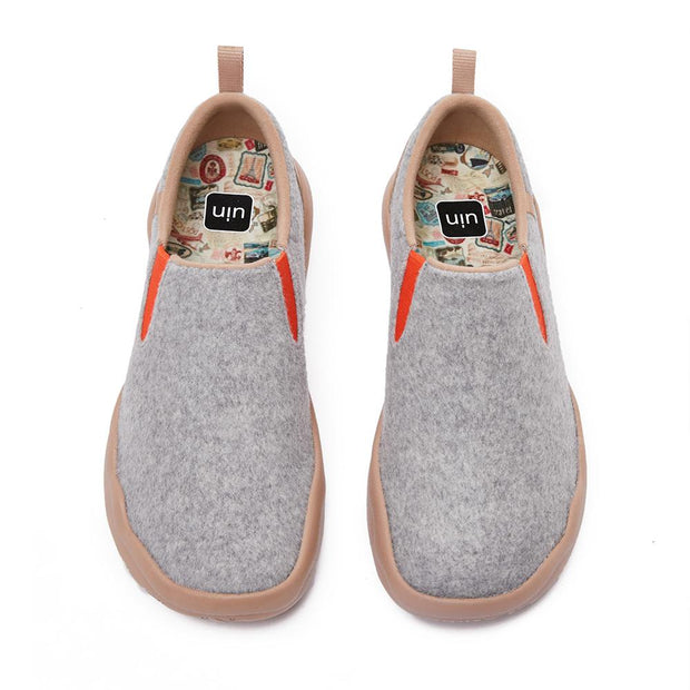 Cuenca Light Grey Wool Men