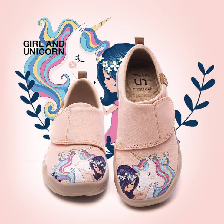 UIN Footwear Kid Girl and Unicorn Canvas Canvas loafers