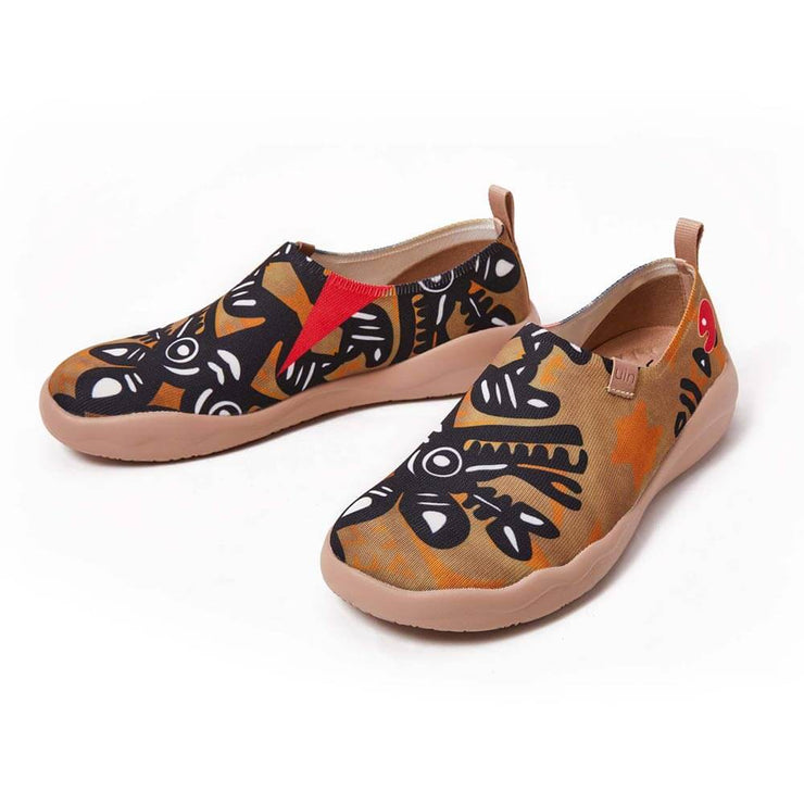 UIN Footwear Men African Totem Canvas loafers