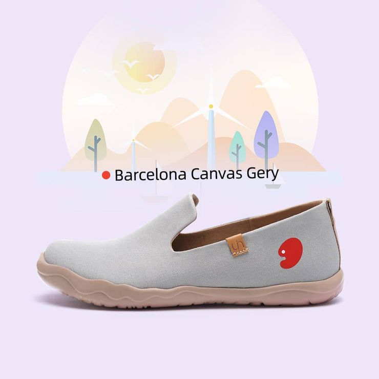UIN Footwear Men Barcelona Canvas Gery Canvas loafers