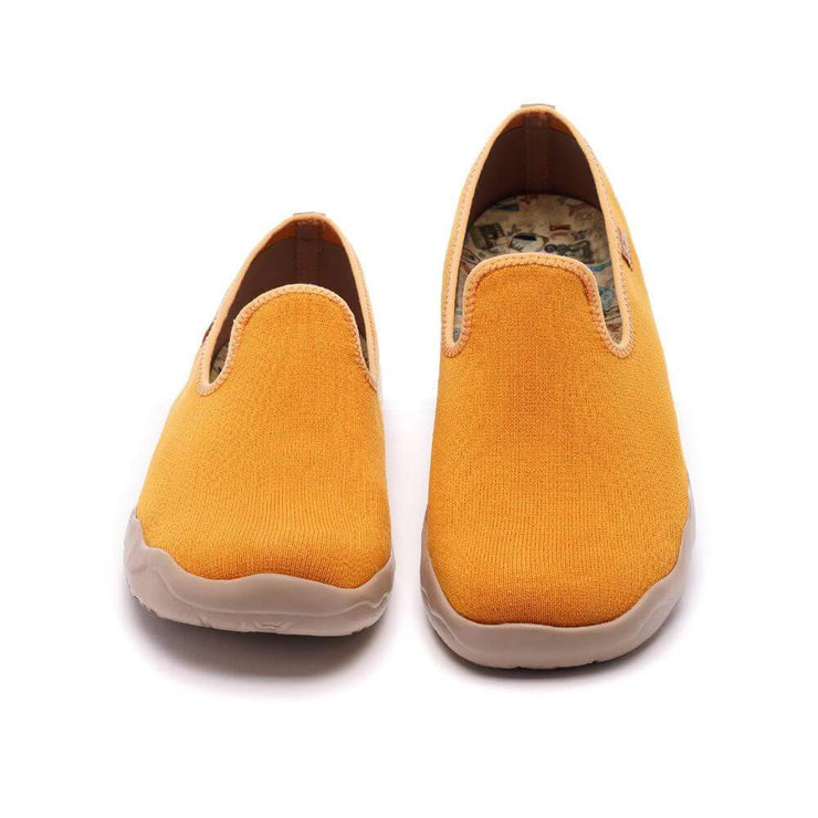 UIN Footwear Men Barcelona Knitted Orange Canvas loafers