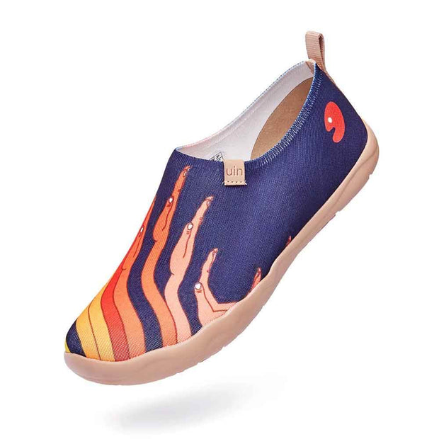 UIN Footwear Men Give me Fire Canvas loafers
