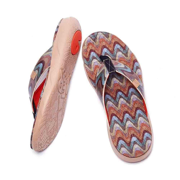 UIN Footwear Men Mountains Men Majorca Flip Flops Canvas loafers