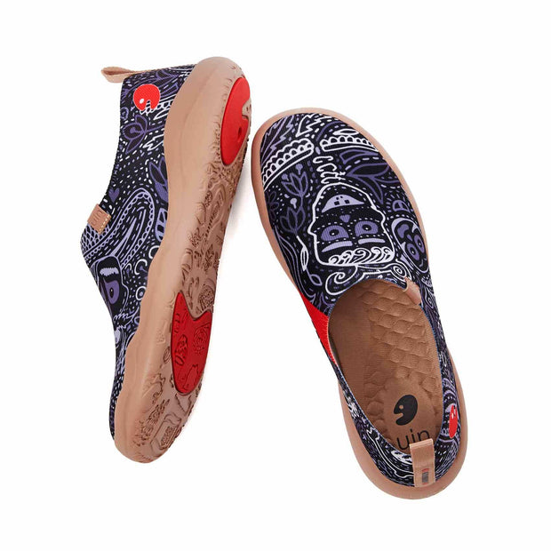 UIN Footwear Men Mundo de los Muertos Men Canvas loafers