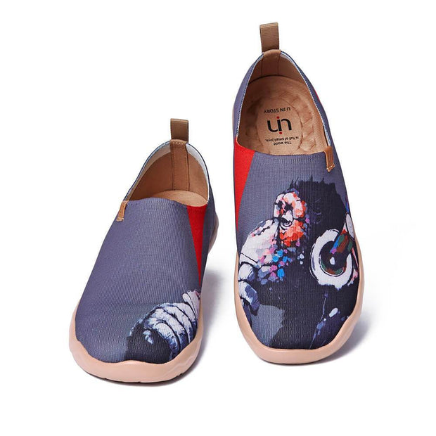 UIN Footwear Men Music Fan Canvas loafers