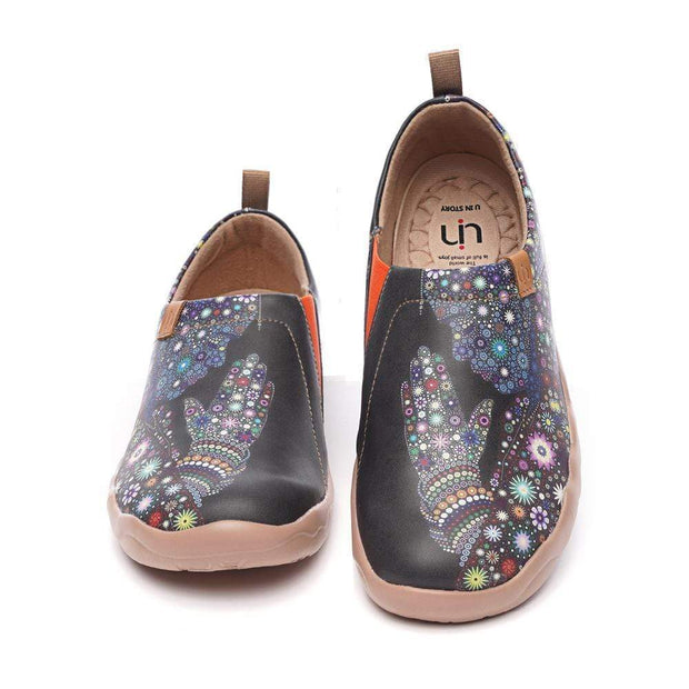 UIN Footwear Men Pray For Goodness Microfiber Leather Men Shoes Canvas loafers