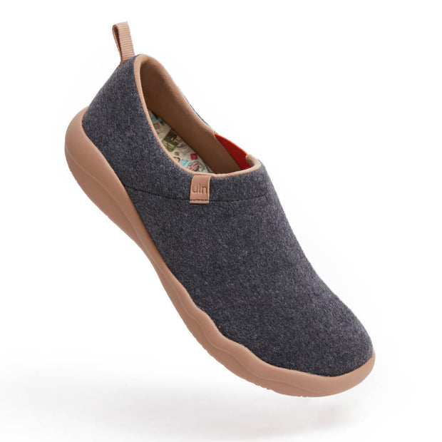 UIN Footwear Men (Pre-sale) Toledo II Deep Grey Wool Men Canvas loafers