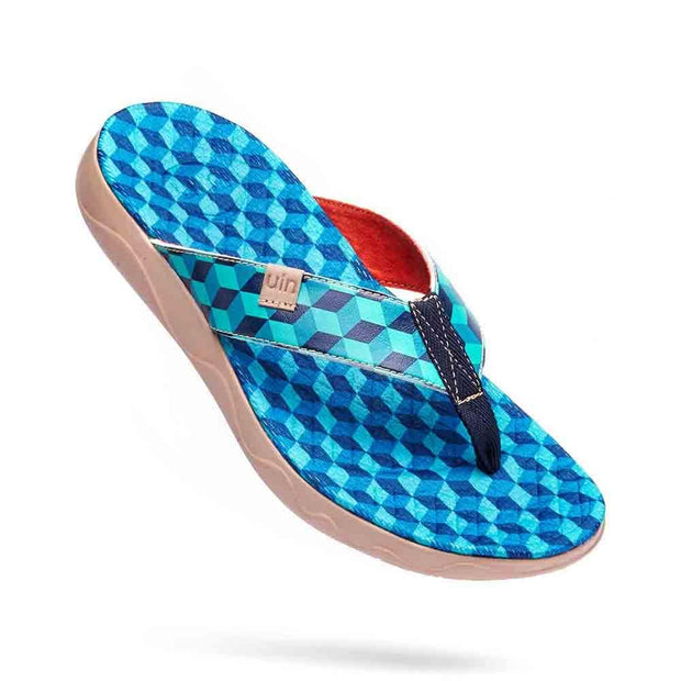 UIN Footwear Men Rubik's Cube Men Majorca Flip Flops Canvas loafers