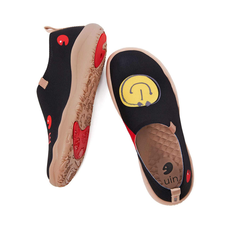 UIN Footwear Men Smiley Knitted Men Canvas loafers