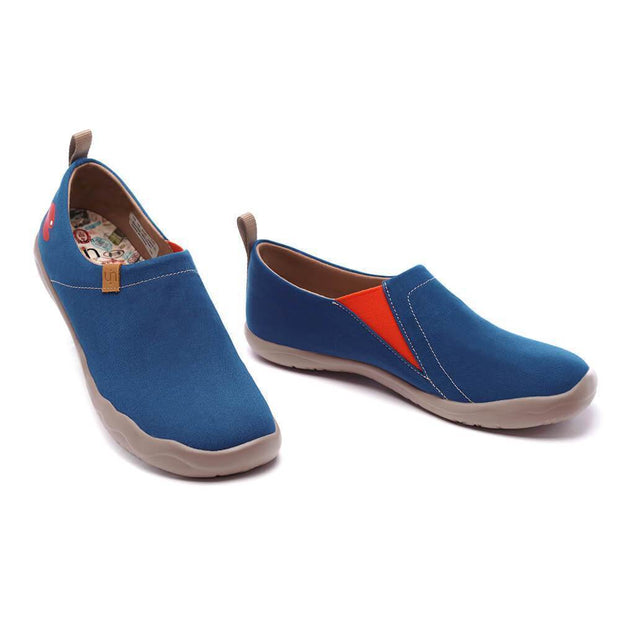 UIN Footwear Men Toledo Dark Blue Canvas loafers