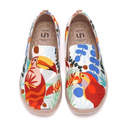 UIN Footwear Men Tropical Forest Canvas loafers