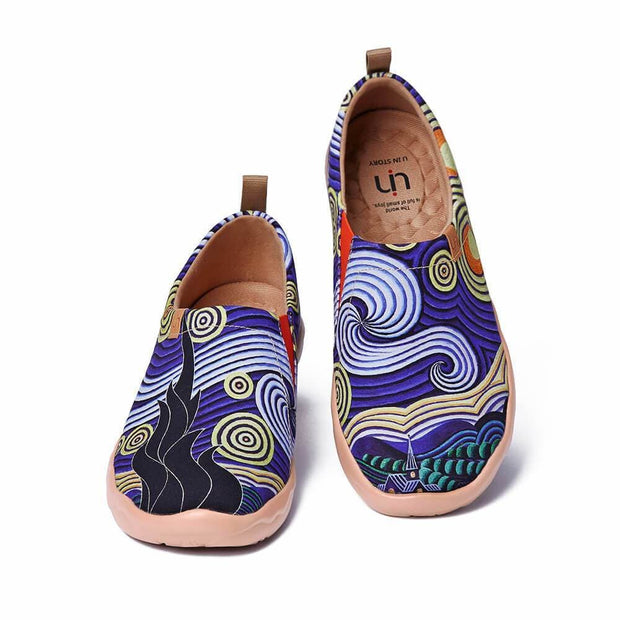 UIN Footwear Men Under the Star Canvas loafers