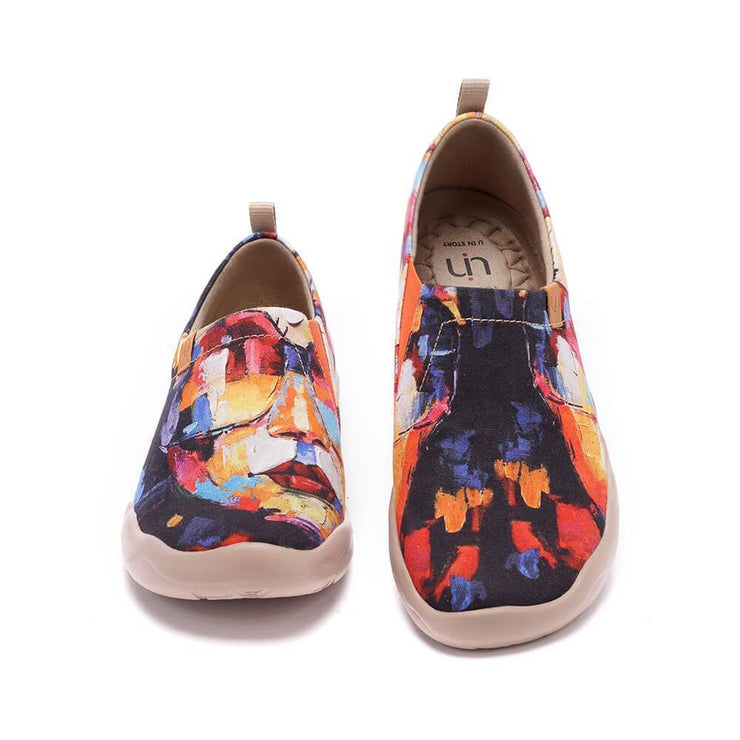 UIN Footwear Women Artwork in Progress (Pre-sale) Canvas loafers