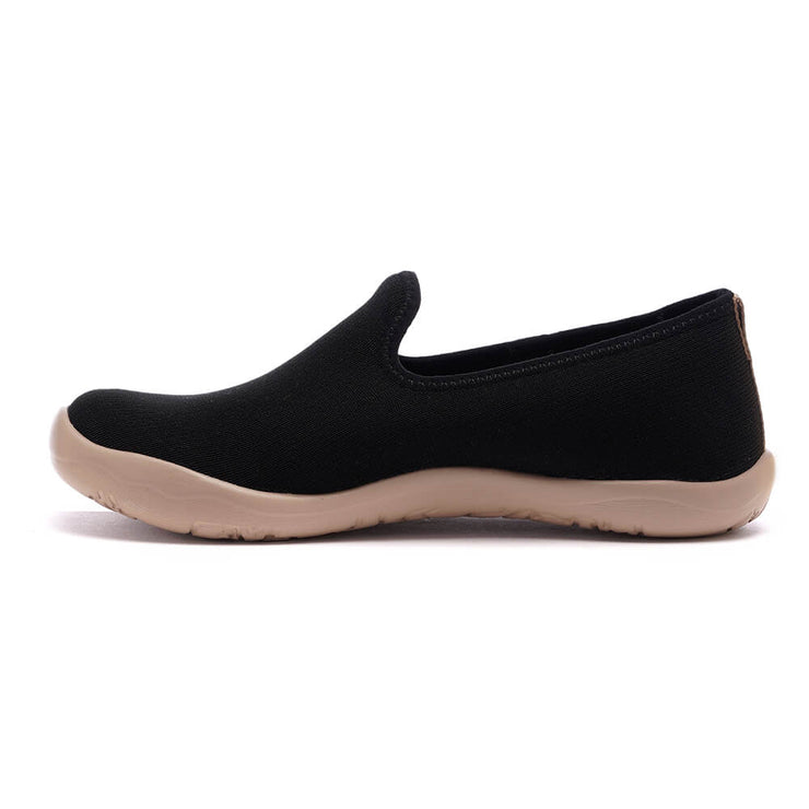 UIN Footwear Women Barcelona Knitted Black Canvas loafers