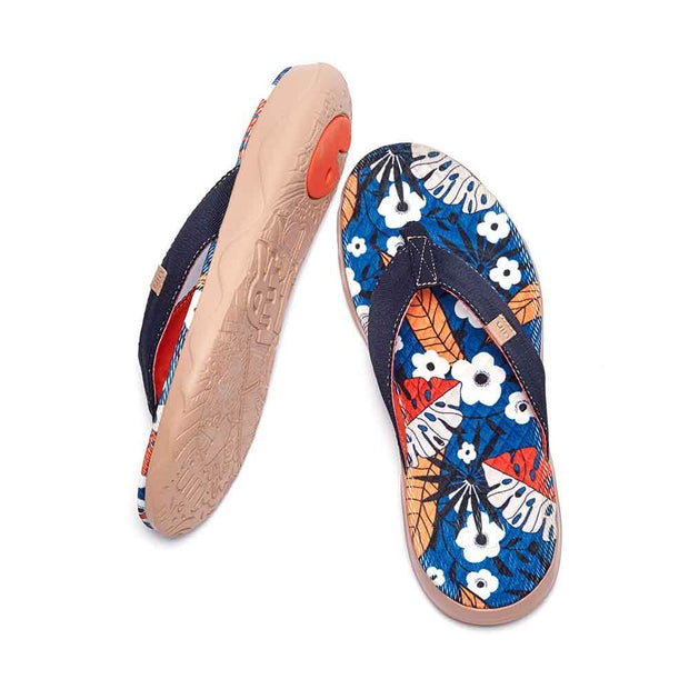 UIN Footwear Women Breezing Summer Women Majorca Flip Flops Canvas loafers