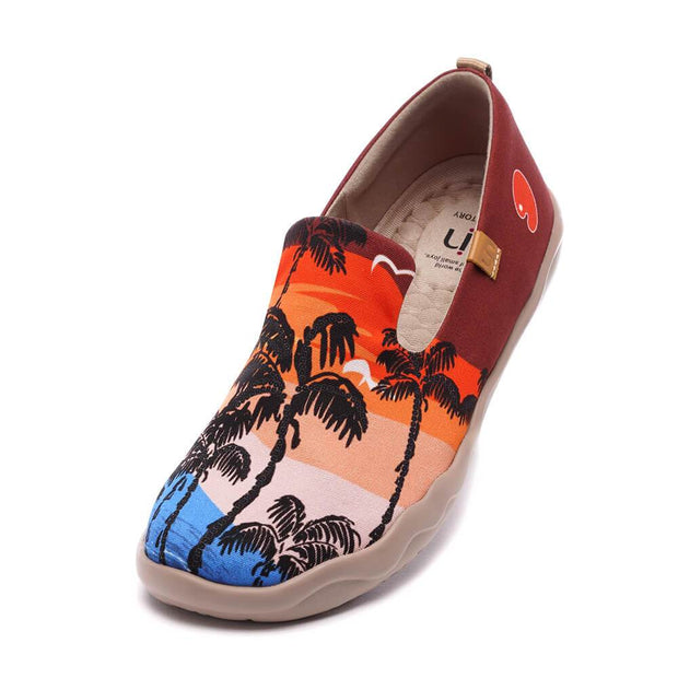UIN Footwear Women Coconut Tree Canvas loafers