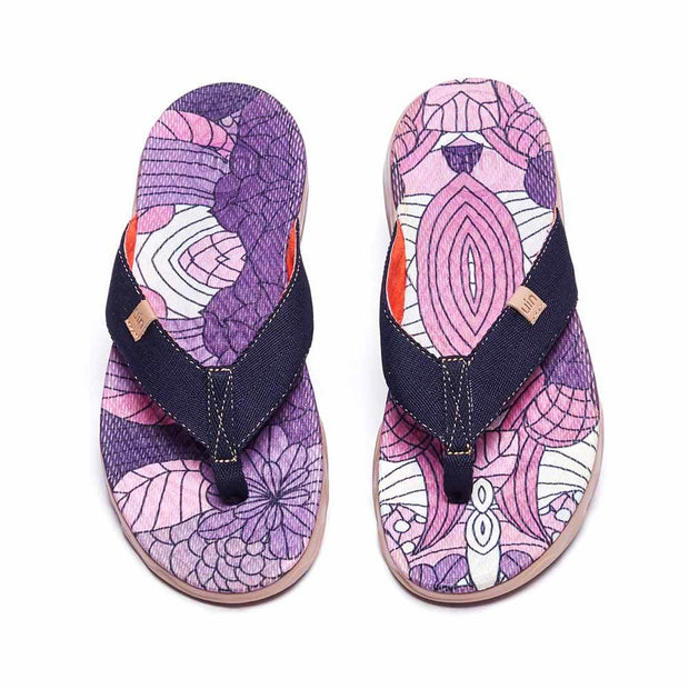 UIN Footwear Women Cornflower Women Majorca Flip Flops Canvas loafers