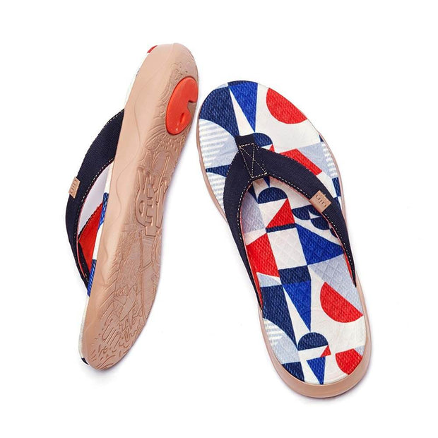 UIN Footwear Women Cube Love Women Majorca Flip Flops Canvas loafers