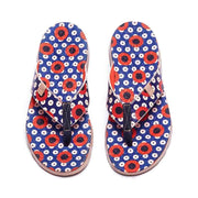 UIN Footwear Women Dots Women Majorca Flip Flops Canvas loafers