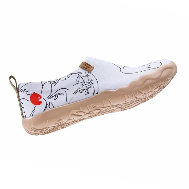 UIN Footwear Women Dove of Peace Canvas loafers