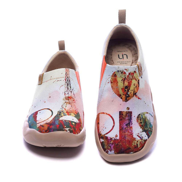 UIN Footwear Women Eiffel for You Canvas loafers