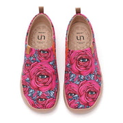 UIN Footwear Women Eye of Charm Canvas loafers