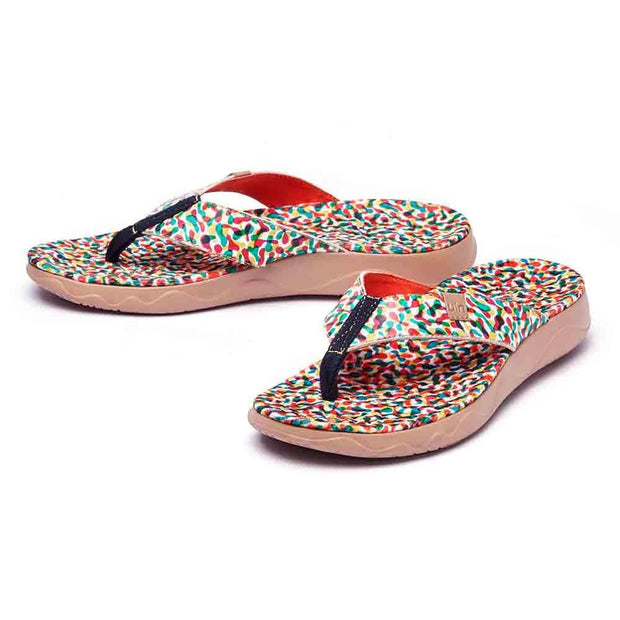 UIN Footwear Women Floating Women Majorca Flip Flops Canvas loafers