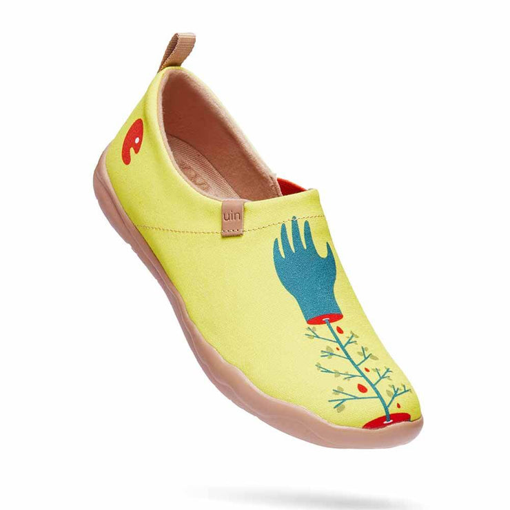 UIN Footwear Women Hands of Nature Canvas loafers