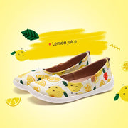 UIN Footwear Women Lemon juice Canvas loafers