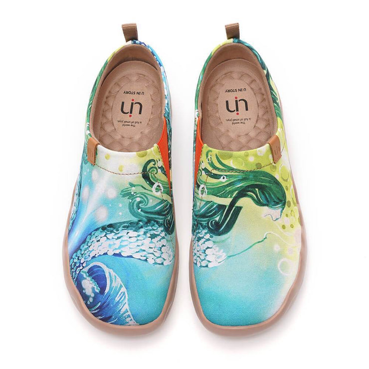 UIN Footwear Women Mermaid Canvas loafers