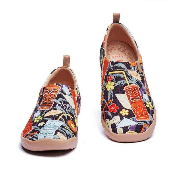 UIN Footwear Women Noon Tea In Jungle Canvas loafers
