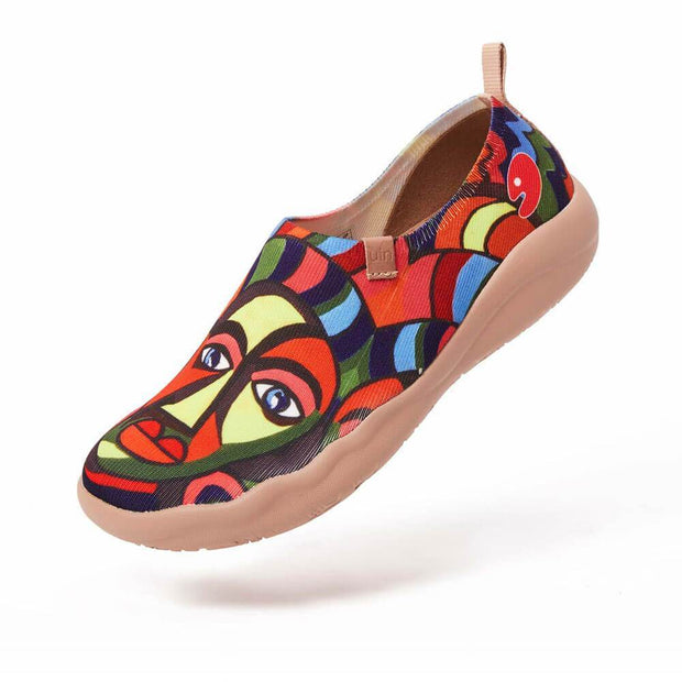 UIN Footwear Women Poker Face Canvas loafers