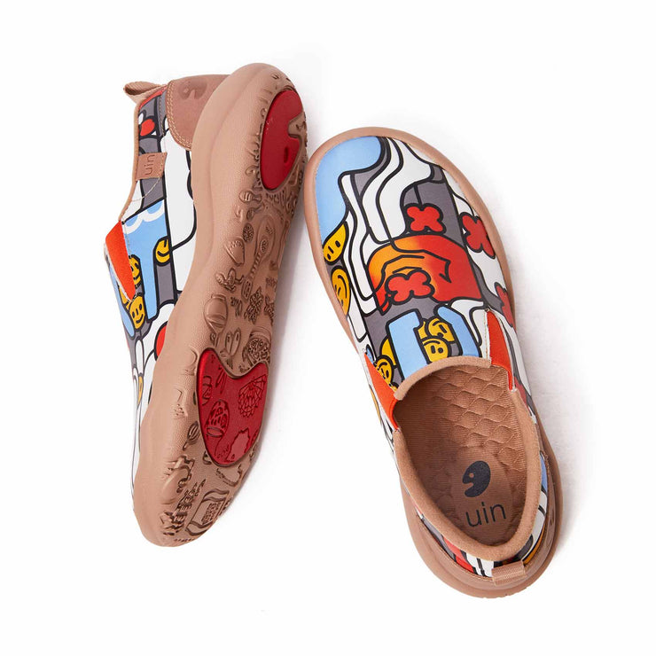 UIN Footwear Women (Pre-sale) Claw Your Smile Women Canvas loafers