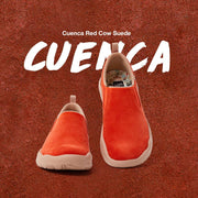 UIN Footwear Women (Pre-sale) Cuenca Red Cow Suede Women Canvas loafers