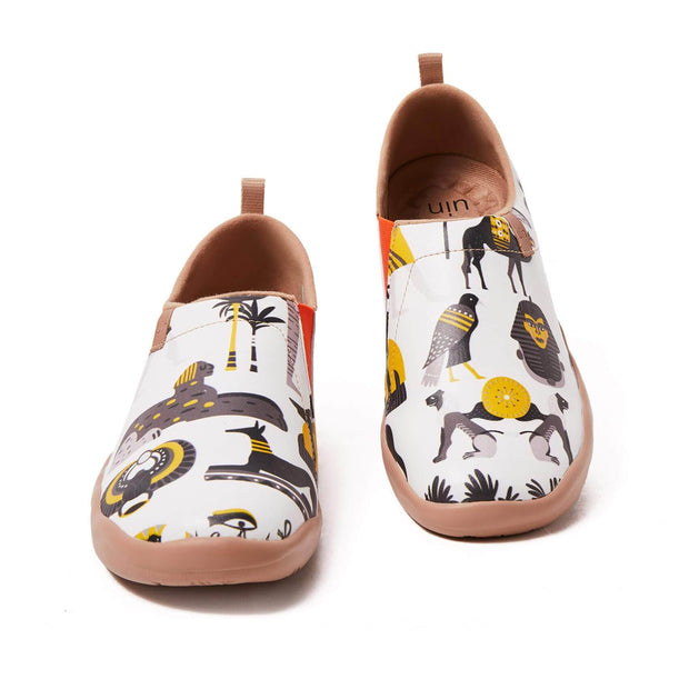 UIN Footwear Women (Pre-sale) Impressions of Egypt Canvas loafers