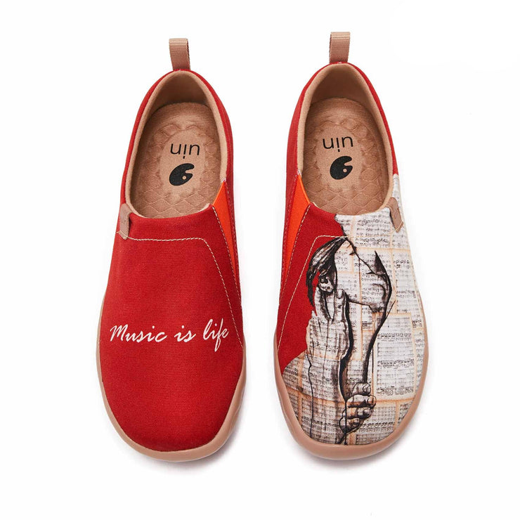 UIN Footwear Women (Pre-sale) Music Is Life Canvas loafers