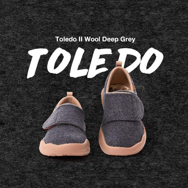 UIN Footwear Women (Pre-sale) Toledo II Deep Grey Wool Kid Canvas loafers