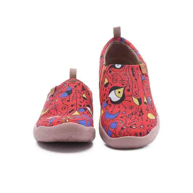 UIN Footwear Women Red Fire Canvas loafers