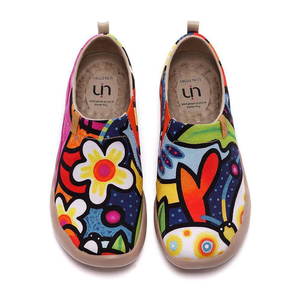 UIN Footwear Women Secret Garden (Pre-sale) Canvas loafers