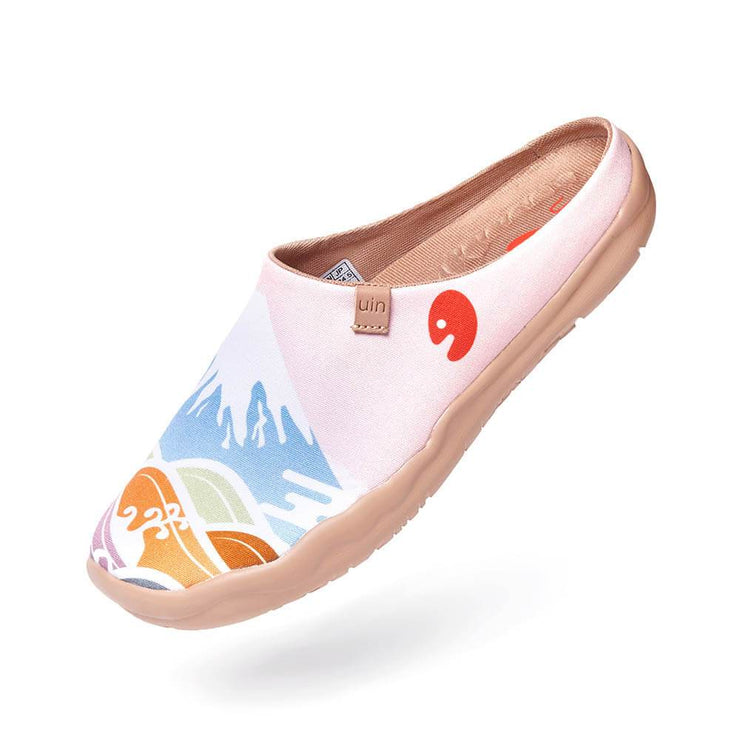 UIN Footwear Women Spring in Mount Fuji Slipper Canvas loafers