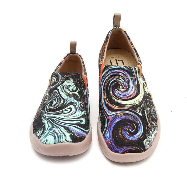 UIN Footwear Women Starry Night Canvas loafers