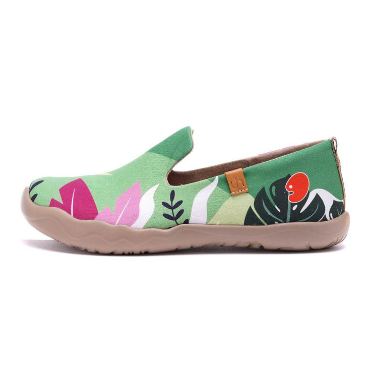 UIN Footwear Women Summer Jungle Canvas loafers