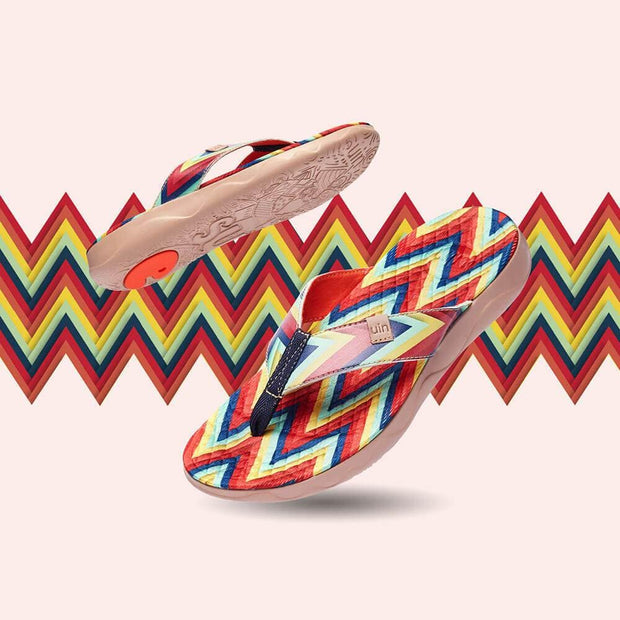 UIN Footwear Women Triangle Women Majorca Flip Flops Canvas loafers