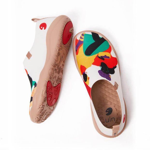 UIN Footwear Women Viva Africa Canvas loafers