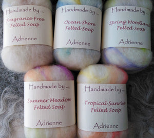Handmade by ... Adrienne - Felted Soaps - Makers Market Shop