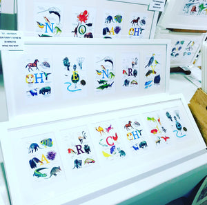 Sarah Gregory Designs Animal Alphabet - Name In A Frame - Makers Market Shop