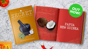Secret Dishes From Around the World - Hardback Recipe Book - Makers Market Shop
