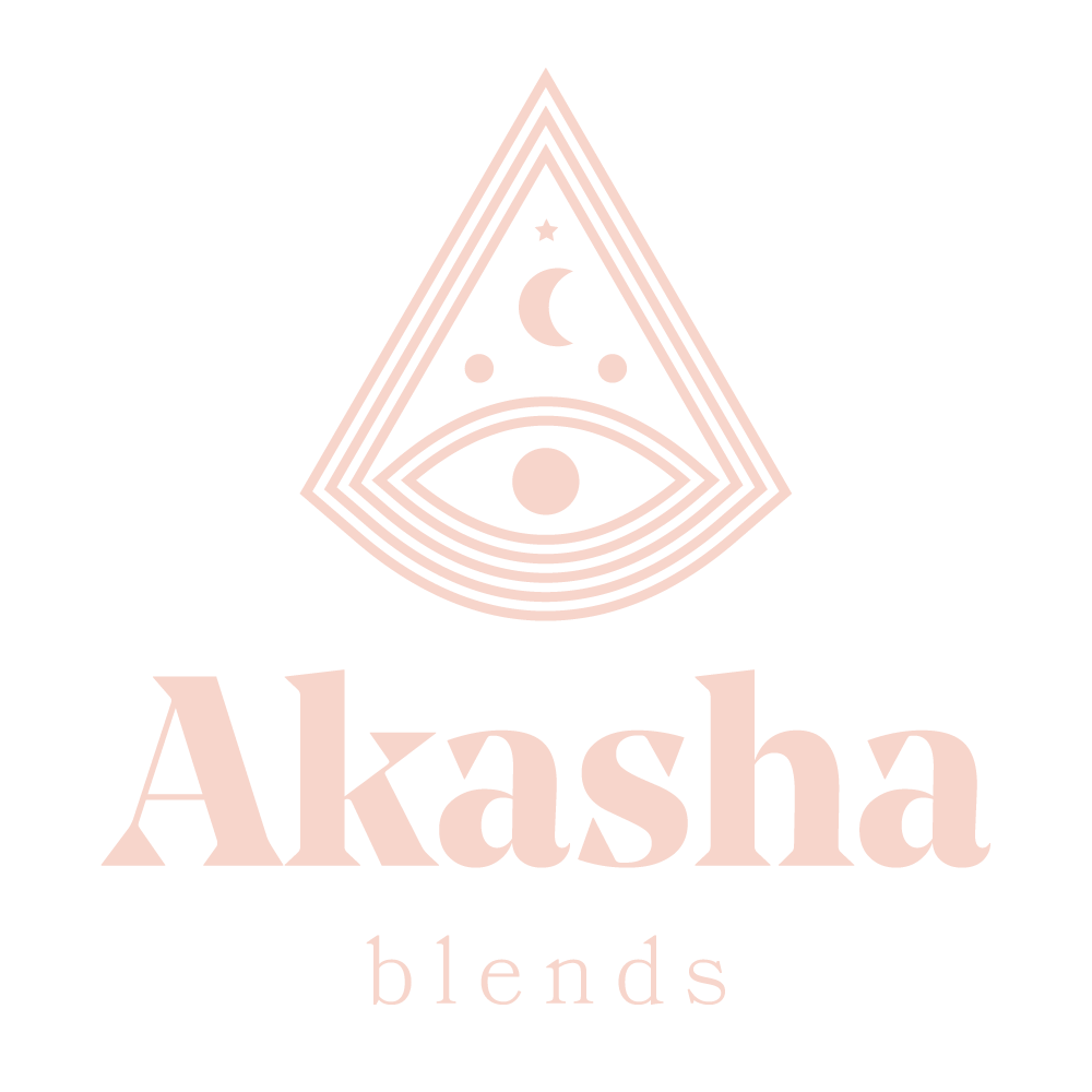 Akasha blends pink logo