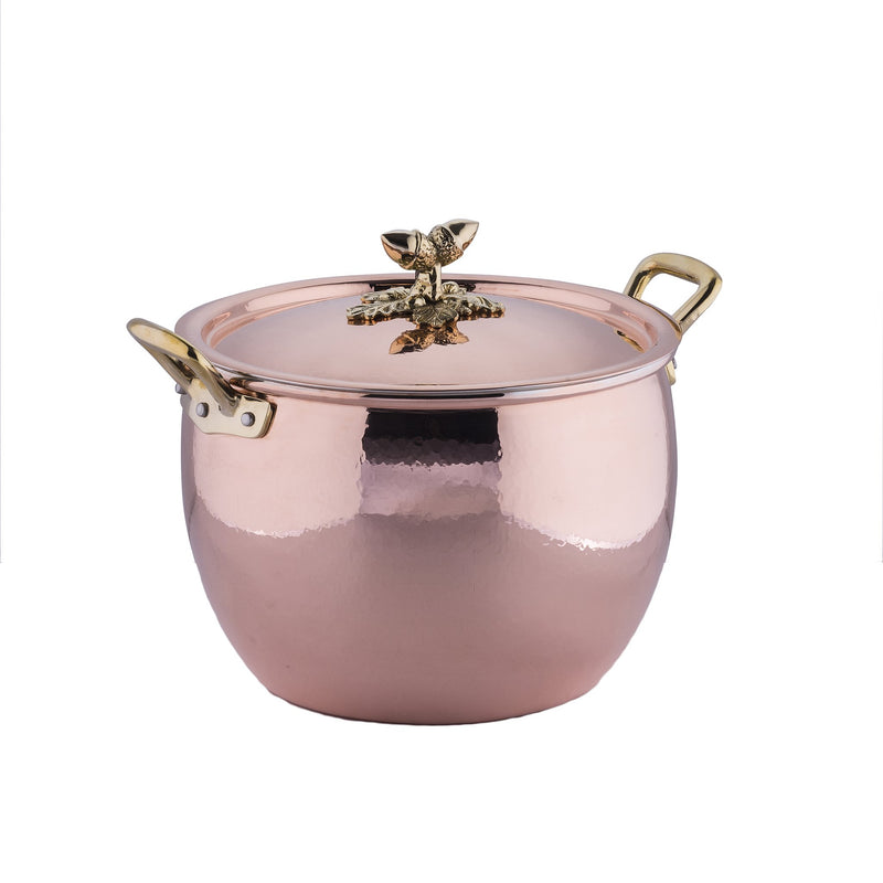 Hand-hammered copper, tin-lined stockpot from Ruffoni