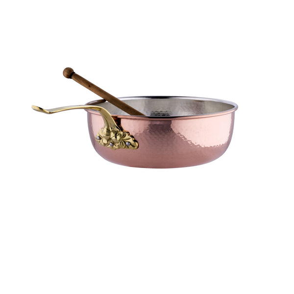 Hand-hammered, copper  chef pan with stainless steel lining from Ruffoni